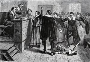 В английской колонии Массачусетс осуждены за колдовство и повешены пять женщин