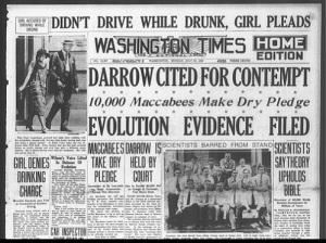 В Дейтоне начался «Обезьяний процесс» против преподавания теории Дарвина