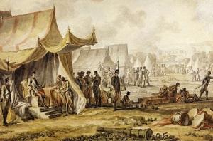 Петр I в ходе Прутского похода в европейские владения Турции оказался в окружении