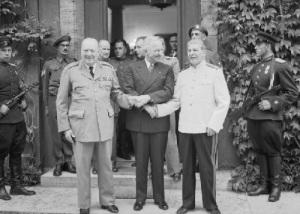 В Потсдаме началась конференция «Большой тройки» (Потсдамская конференция)