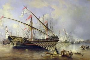 Во время Северной войны русский флот одержал победу над шведской экскадрой у острова Гренгам