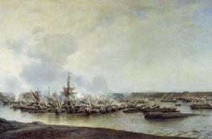 Русский флот одержал первую в истории крупную победу над шведами у мыса Гангут в ходе Северной войны