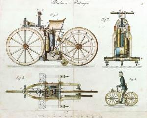 Немецкий изобретатель Готлиб Даймлер запатентовал первый мотоцикл