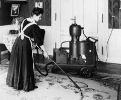 Американец Айвз Макгаффни запатентовал первый в мире пылесос