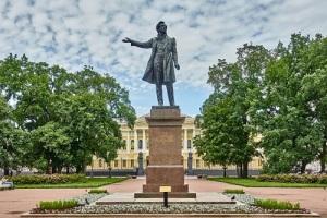 В Ленинграде на площади Искусств открыт памятник А.С. Пушкину