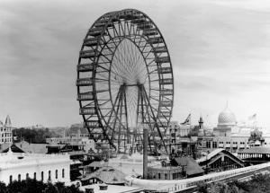 Посетители Всемирной выставки в Чикаго впервые в истории прокатились на колесе обозрения