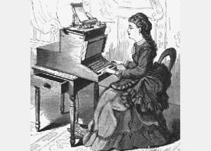 Запатентована пишущая машинка
