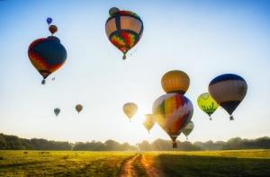 Москва впервые увидела полет воздушного шара