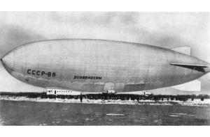 Завершился рекордный по продолжительности полет советского дирижабля СССР-В6 «Осоавиахим»