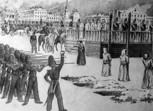 В Санкт-Петербурге состоялась инсценировка казни петрашевцев