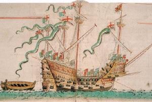 В проливе Солент поднята часть корпуса парусника «Мэри Роуз»