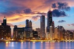Жак Маркетт основал у озера Мичиган миссионерский пост, впоследствии ставший городом Чикаго