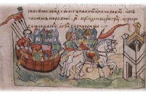 Князь Олег заключил первый международный договор с Византией