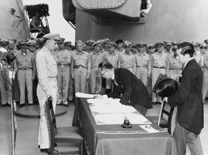 Подписан Акт о безоговорочной капитуляции Японии — день завершения Второй мировой войны
