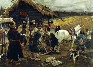 Царским указом запрещен переход крестьян от одного хозяина к другому