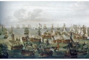 Произошло Трафальгарское сражение
