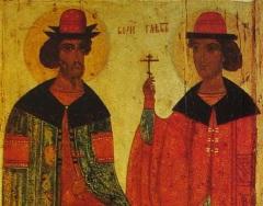 Состоялась церемония передачи иконы «Борис и Глеб», ранее похищенной из музея