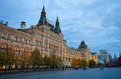 В Москве на Красной площади торжественно открыты Верхние торговые ряды (сегодня – ГУМ)