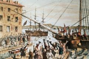 Произошла акция протеста американских колонистов, вошедшая в историю как «Бостонское чаепитие»