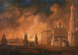 Армия Наполеона вступила в опустевшую Москву