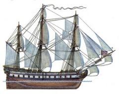 На воду спущен первенец Черноморского флота России – парусный корабль «Слава Екатерины»