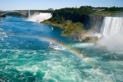 Открыт мост между США и Канадой над Ниагарским водопадом («Радужный мост»)