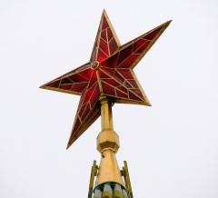 На Кремлевских башнях установлены рубиновые звезды