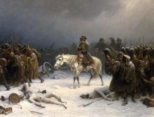 Солдаты разгромленной армии Наполеона покинули пределы России
