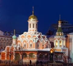 В Москве на Красной площади открыт восстановленный Казанский собор