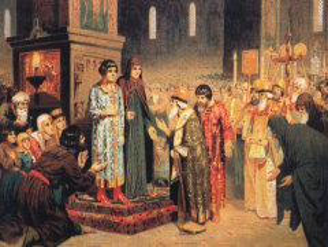 Земский собор избрал российским царем Михаила Федоровича Романова