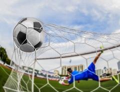 Впервые была использована сетка на футбольных воротах