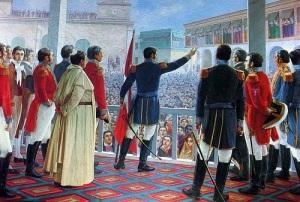 В ходе войны за независимость испанских колоний в Южной Америке освободительная армия разгромила испанцев