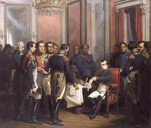 Наполеон Бонапарт первый раз отрекся от престола