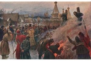 В Пустозерске сожжен Аввакум Петрович, глава старообрядчества