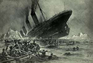 В Атлантическом океане затонул пассажирский лайнер «Титаник»