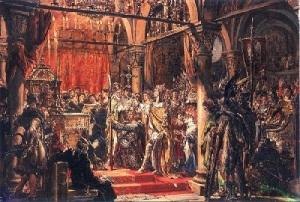 В Гнезно, столице древнепольского государства, был помазан на царство первый король Болеслав I Храбрый