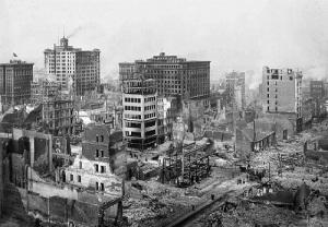 В результате землетрясения разрушена часть Сан-Франциско