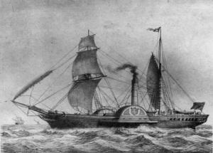 Первый пароход, пересекший Атлантический океан без остановки, бросил якорь в бухте американского штата Нью-Джерси