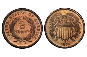 В США начата чеканка бронзовых монет достоинством в 1 и 2 цента
