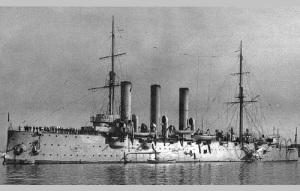 В Петербурге спущен на воду крейсер «Аврора», будущий символ Октябрьской революции
