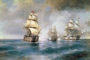 Победа русских моряков в сражении у Босфора