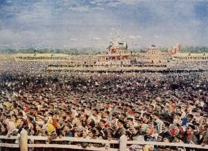 В Москве во время празднества по случаю коронации Николая II произошла Ходынская катастрофа