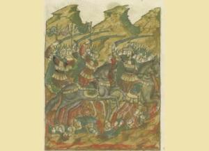 Первое сражение русских дружин с монголо-татарским войском на реке Калке, что положило начало возникновению татаро-монгольского ига на Руси