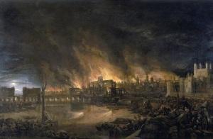 Закончился Великий пожар в Лондоне, продолжавшийся несколько дней и уничтоживший треть города