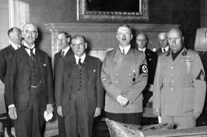 Подписано Мюнхенское соглашение 1938 года, также известное как «Мюнхенский сговор»