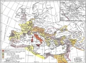 Римская империя разделилась на Восточную и Западную