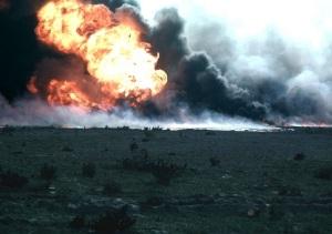 В ходе операции «Буря в пустыне» в Персидский залив вылито 816 тысяч тонн нефти