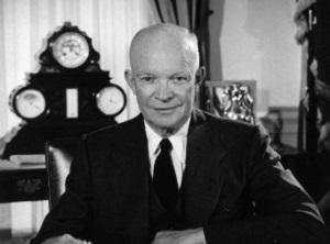 Президент США Эйзенхауэр провел первую в мире телевизионную пресс-конференцию