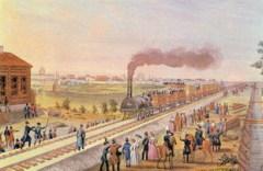 Началось строительство первой в России железной дороги по маршруту Петербург - Царское Село - Павловск
