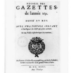 Во Франции вышла газета под названием «La Gazette», и вскоре слово «газета» вошло во все европейские языки